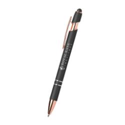 Ellipse Softy Rose Gold Metallic Pen with Stylus